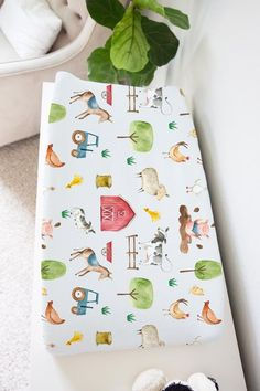 Barn and Farm Animals Changing Pad Cover, Farm Nursery Bedding, Farm changing pad cover, Farm theme Farm Animal Nursery, Farm Nursery, Nursery Bedding, Nursery Themes, Nursery Ideas, Nursery Decor, Themed Nursery, Barn Animals, Farm Theme