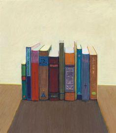 Wayne Thiebaud (American, b. 1920), Various Books, 1991-92. Oil on paper, 24 x 21 in.
