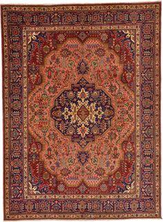Peach 8' 4 x 11' 3 Tabriz Persian Rug   Persian Rugs   eSaleRugs