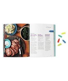 Two-sided magnetic bookmarks snap over cookbook pages so you can keep tabs on your favorite recipes.