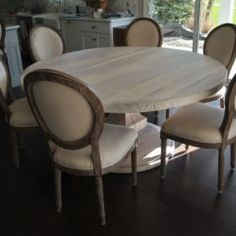 Rustic Elements Furniture custom builds round tables, available in your choice of wood, style, and distress. 60 Inch Round Table, Round Tables, Table And Chairs, Dining Chairs, Solid Wood Table, Custom Furniture, Home Kitchens, Kitchen Remodel, Rustic