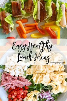 This is a list of some easy healthy lunch ideas to make that midday meal just a little more delicious and simple! These are quick, easy meals that are low carb and healthy. Easy Healthy Lunch Ideas | easy healthy lunch ideas for teens | easy healthy lunch ideas for work | easy healthy lunch ideas for home | easy healthy lunch ideas for kids | easy healthy lunch ideas for school | easy healthy lunch ideas for teens fit | easy healthy lunch ideas | Lunch Meal Prep | Lunch Meal Prep Healthy… Lunch Meal Prep, Healthy Meal Prep, Healthy Eating, Lunch Time, Clean Eating, Lunch Recipes, Easy Dinner Recipes, Healthy Recipes, Delicious Recipes