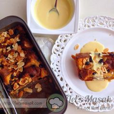 My brunch for today! The easiest yet fluffiest bread pudding! As usual, #izzymeals memang easy...