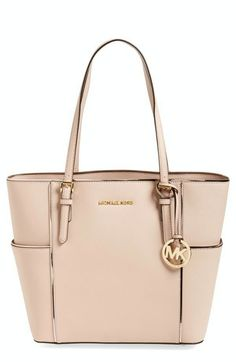 New Michael Kors Specchio Jet Set Travel Large Tote Leather Ballet Pink #MichaelKors #TotesShoppers