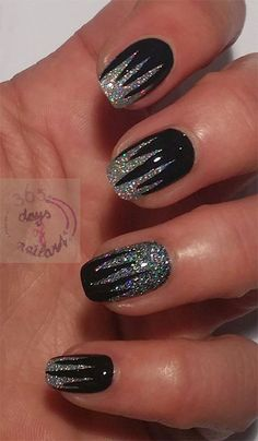 15-Black-Silver-Gel-Nail-Art-Designs-Ideas-2016-13.jpg (400×685)