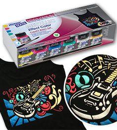 Set de culori pentru textil cu efect metalic JAVANA Textiles, Candy, Sweets, Fabrics, Candy Bars, Textile Art, Chocolates