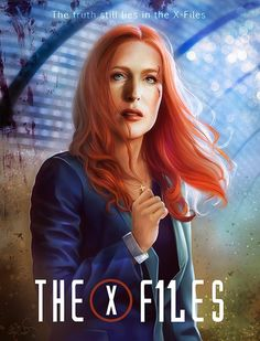 """@Rachelbee75 @GrannyDoggy @tiffanys85 Digital painting of #Scully inspired by a photo from the set of #TheXFiles s11 #GillianAnderson"""