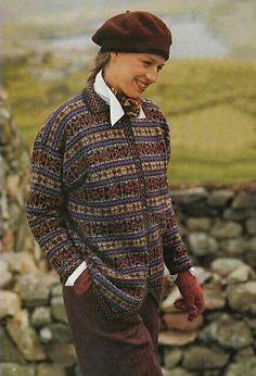 Ravelry: Fair Isle Cardigan pattern by Alice Starmore - more nice colours Fair Isle Knitting Patterns, Knit Patterns, Stitch Patterns, Sweater Patterns, Punto Fair Isle, Art Minecraft, Knit Stranded, Fair Isle Chart, Vogue Knitting