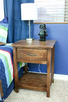 This PB Kids knockoff nightstand is so easy to build with these simple instructions!