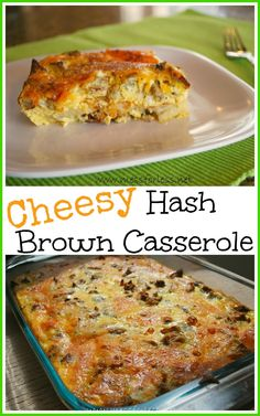 Easy Meals - Cheesy Hash Brown Casserole #recipe #breakfast