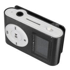 Mini USB Clip MP3 Music Media Player LCD Screen Support 32GB Micro SD TF Card Sale - Banggood.com