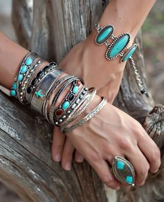 LoulaBelle turquoise jewelry from www.cowgirlshine.com