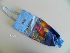 Puxa sacos azul – Frutas
