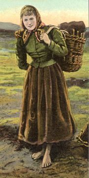 Irish Woman Carrying Peat
