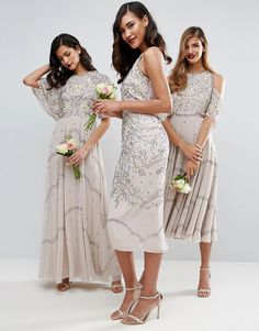2f655a62 26 Best Embellished Bridesmaid Dresses images | Embellished ...