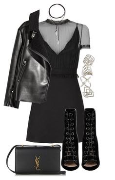 """Untitled #543"" by el-khawla ❤ liked on Polyvore featuring Valentino, Vanessa Mooney, Topshop, Barbara Bui and Yves Saint Laurent"