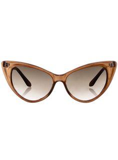 Cateye Sunglasses in Root Beer | PLASTICLAND