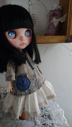 *ayudoll blythe custom*「黒髪リリィちゃん」カスタムブライス - Auction - Rinkya
