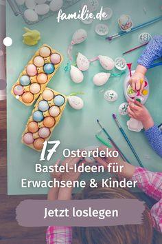Osterdeko selber machen aus Papier, Wolle oder aus Servietten. Hier zeigen wir euch, wie man mit ganz einfachen Mitteln eine frühlings-frische Osterdeko basteln kann. Hier gibt's Ideen für große Bastler aber auch für kleine Hände. Paper, Funny Eggs, Kids Discipline