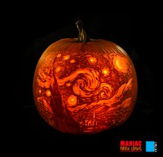 Van Gogh's Starry Night from the Maniac Pumpkin Carvers.