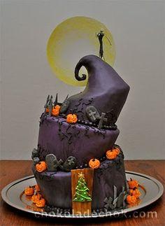 Nightmare Before Christmas Movie Cake!