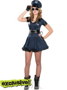 Teen Girls Locked N Loaded Cop Costume - Party City ill lock you up