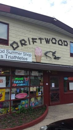 Driftwood, Sister Lakes, Michigan. I have visited this shop and had ice cream here for as long as I can remember
