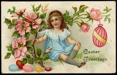 Vintage German Easter Postcard