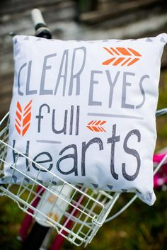 Clear Eyes Pillow Cover // Friday Night Lights <3