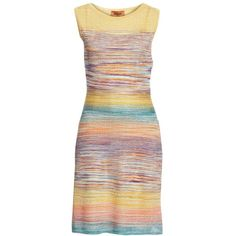 Women's Missoni Degrade Stripe Dress (€1.050) ❤ liked on Polyvore featuring dresses, multi, striped dress, knit dress, missoni dress, stripe dresses and missoni