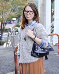 ◆美人スナップ|田中優さん http://www.bijin-snap.com/2011/10/29/no-572/page/5/ #田中優 #Yu_Tanaka #girl_with_glasses #glasses #woman_with_glasses