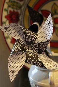 Black & White Party Pinwheel