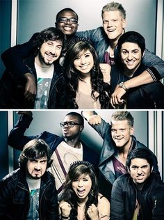 Pentatonix December Challenge Day 7: Favourite group picture THIS ONE.   Avi's FACE.