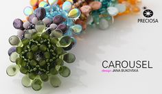 Pendants made from Twin Roller and PRECIOSA Pip™ beads.  Free PDF.  #Seed #Bead #Tutorials