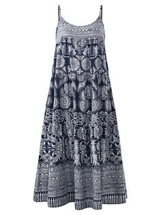 Vintage Spagehtti Strap Ethnic Printed Dresses For Women is hot sale on NewChic, shop cheap vintage style dresses online Mobile.