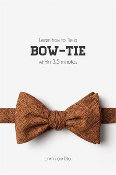 Here is a step-wise guide to learn how to tie your bow-tie b742a88750c1