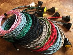 10 feet BLACK Old Style Cotton Braided Wire Restoration Quality New RED