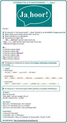 Tussenwerpsel (interjectie) '..., hoor!' + vertaling in het Frans, Engels en Duits