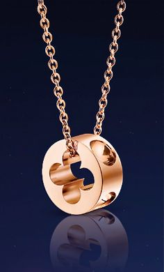 Louis Vuitton pink gold pendant