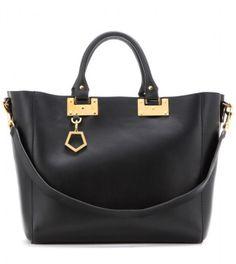 Sophie Hulme Leather Shopper in Black