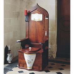 Herbeau 550121 - It is astounding to me that someone might pay almost $16k for a toilet [on sale from $21k]!  Where's my castle??