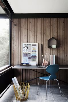 I think I want to do something like this to cover up the paneling in our new home. I'm sick of wall to wall paneling, yet I love wood. I think I'll possibly use Cedar planking.