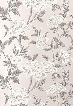 Whitney Floral in Platinum, 5004381. http://www.fschumacher.com/search/ProductDetail.aspx?sku=5004381 #Schumacher