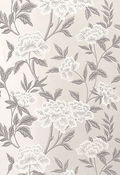 5004381 Whitney Floral Platinum by F Schumacher