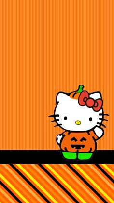 Hello Kitty Art, Hello Kitty Items, Sanrio Hello Kitty, Holiday Wallpaper, Halloween Wallpaper, Holiday Backgrounds, Cellphone Wallpaper, Iphone Wallpaper, Wallpaper Backgrounds