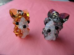 Corgi Dog Keychain  Swarovski Crystal Beads Keychain by kawaiibead, $25.00