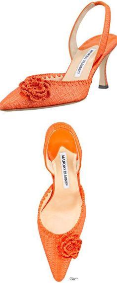 Manolo Blahnik...Orange