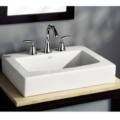 American Standard 0504008 020 Boxe 8 Centerset Above Counter Vessel Sink White