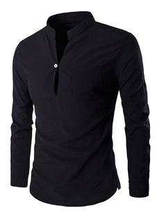 Cheap fit shirt, Buy Quality mens casual dress shirts directly from China slim fit shirt Suppliers: Men's Casual Dress Shirts 2016 New Mandarin Collar Unique Design Slim Fit Shirts Chemise Homme Camisa Masculina M-XXL Smart Casual Men, Black Polo Shirt, Mandarin Collar, Casual Shirts For Men, Shirt Designs, Mens Fashion, Fashion Site, Jeans, Long Sleeve