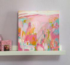 Small Wall Art small pink abstract painting pink and grey wall art abstract